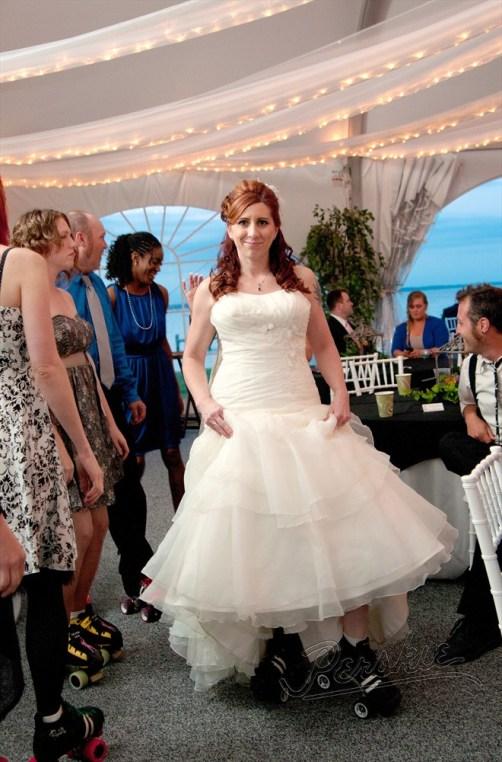 Bride in Roller Skates