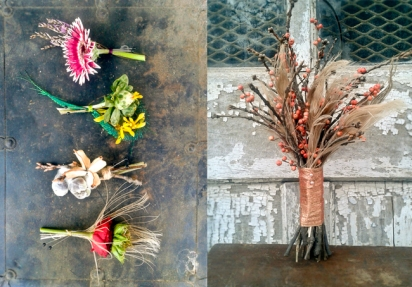 Boutonnieres & Bouquet by Mobtown Florals