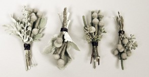 Boutonnieres by Mobtown Florals