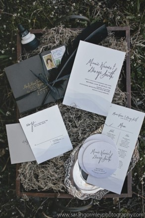 Invitations, Menu, Print Work by The Peacock Press